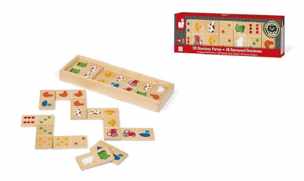 Wooden Barnyard theme Dominoes by Janod